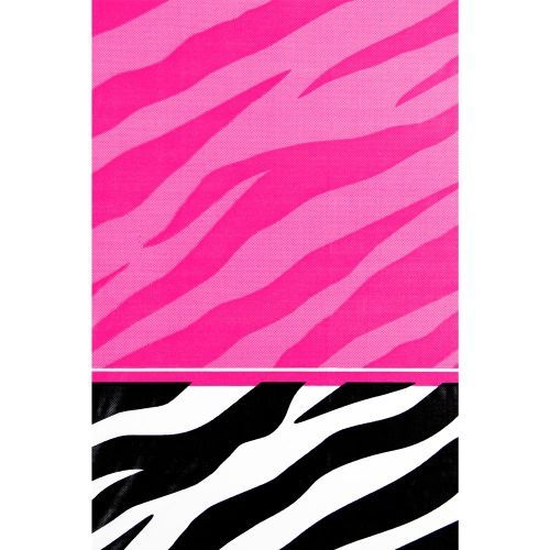 Zebra Party Plastic Table Cover - Zebra Party Supplies