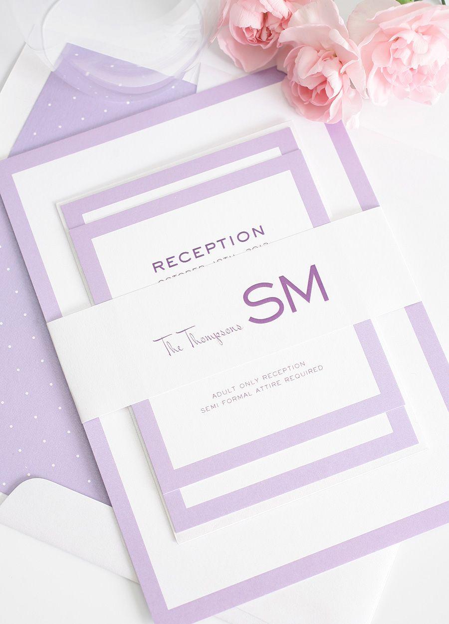 Purple Wedding Invitations with Modern Flair | Purple wedding ...