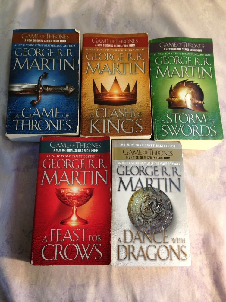 Game Of Thrones A Song Of Ice And Fire Paperback Set 1 5 George