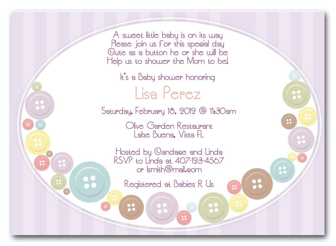 girl baby shower invitation cute as a button Google Search – Baby Announcements Wording Ideas