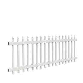 Gatehouse Arborley White Gothic Picket Vinyl Fence Panel Common 36 In X 8 Ft Actual 34 In X 7 65 Ft From With Images Vinyl Fence Vinyl Fence Panels Vinyl Picket Fence