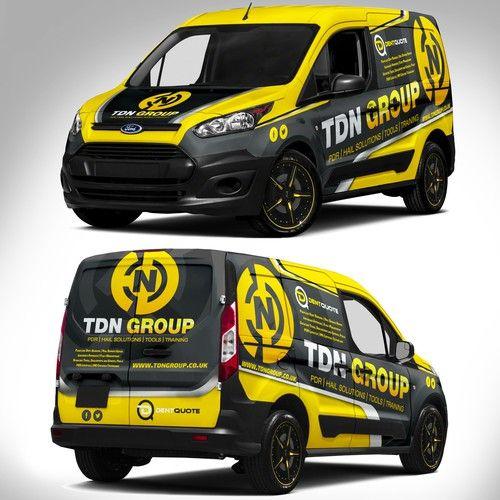 Runner Up Design By J Chaushev Car Graphics Van Wrap Ford Transit