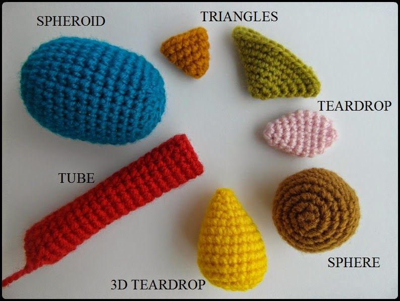 Amigurumi Knitting Patterns For Beginners : Join the Shapes Crochet-Along and get one free amigurumi shape pattern from J...