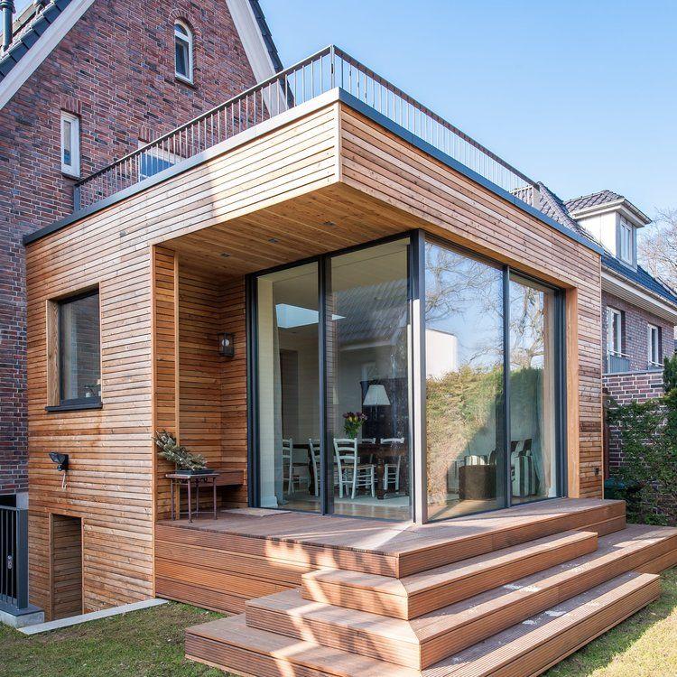 Holzanbau an ein 20er-Jahre Rotklinkerhaus – HH Alsterdorf — Architekt Abd Rabbo