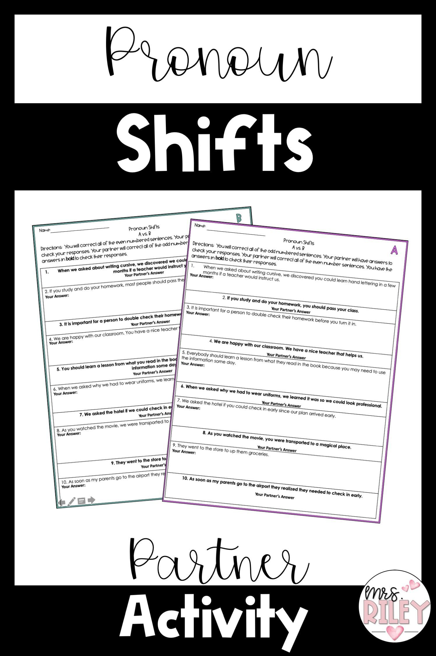 Pronoun Shifts