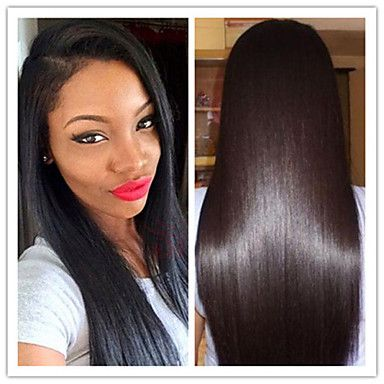 #1,#1B,#2,#4 100% Virgin Brazilian Human Hair Glueless Long Silky Straight Lace Front Wigs For Fashion Black Women Stock