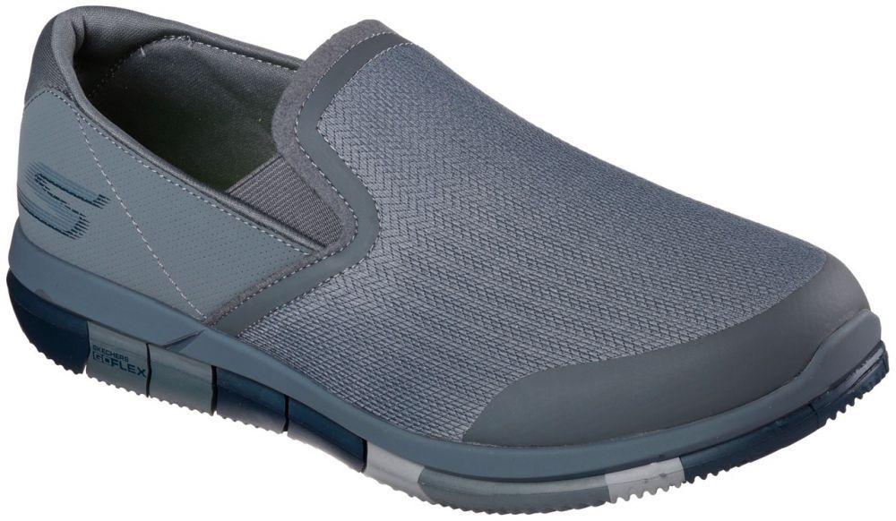 Skechers Go Flex Walk Walking Shoes For Men Charcoal Navy