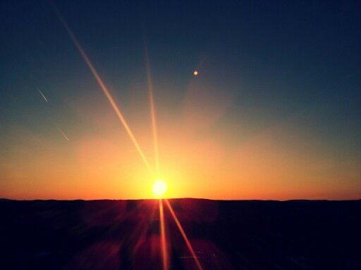 sunset in bavaria.