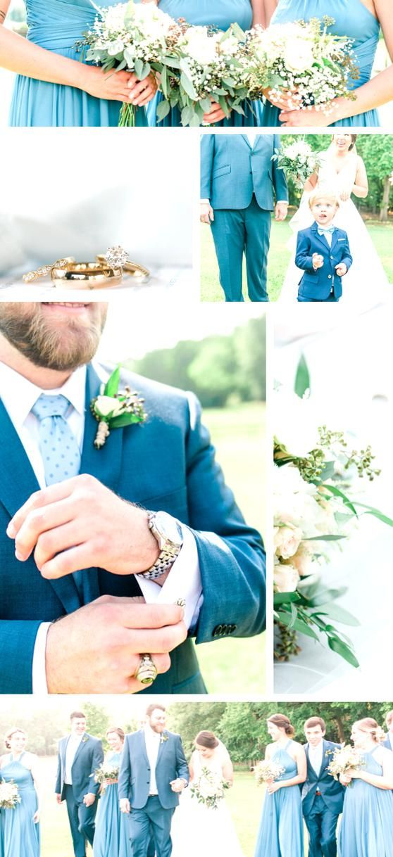 Navy and baby blue spring or summer wedding color scheme