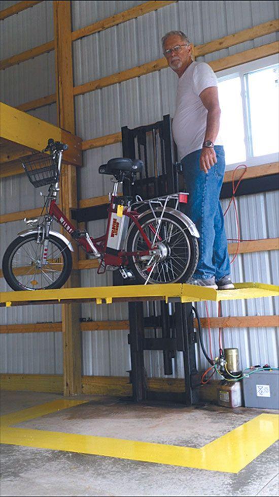 Diy forklift elevator for the shop or barn farm and garden diy forklift elevator for the shop or barn solutioingenieria Images