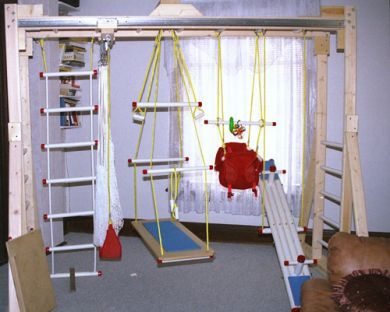 an indoor home gym for kids kids 39 room ideas pinterest. Black Bedroom Furniture Sets. Home Design Ideas