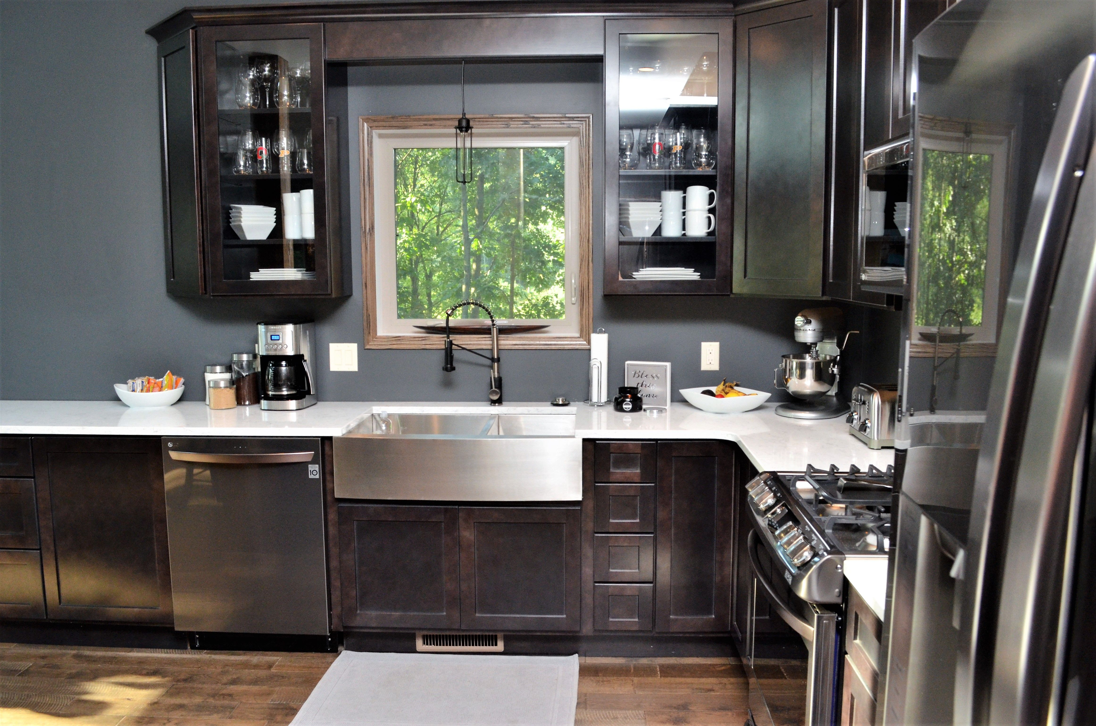 Haas Cabinetry Wood Species: Maple Cabinet Finish: Slate ...