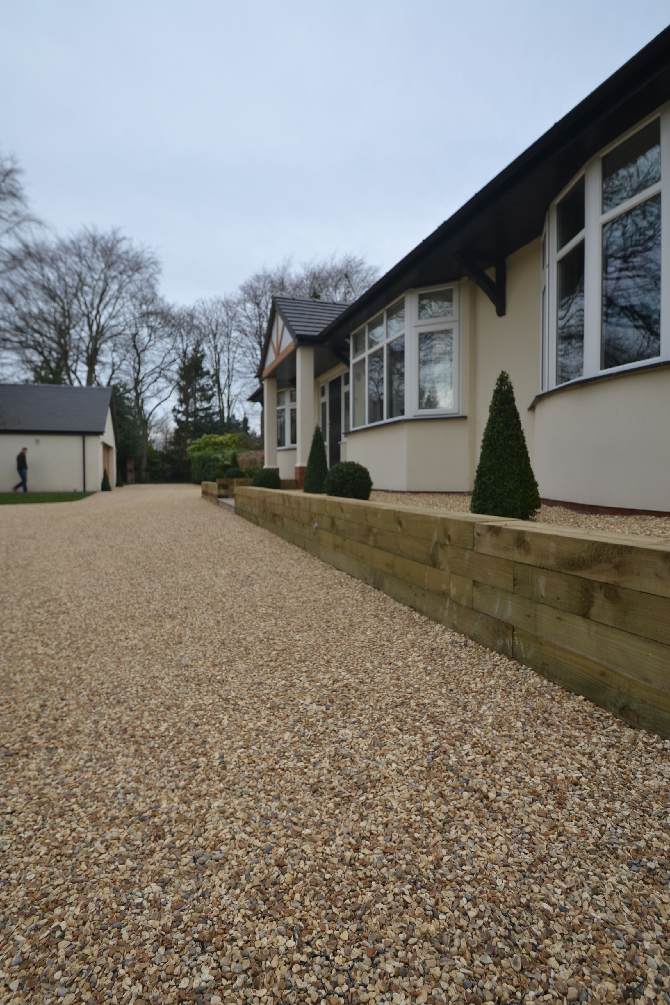 Stabilised Gravel Driveway With Raised Beds In Sale Cheshire