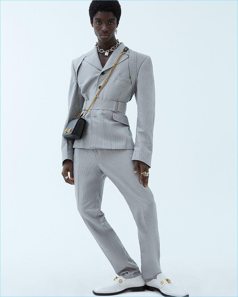 Sharp Relief: Alton Mason Dons Spring '19 Looks for WWD – fashion