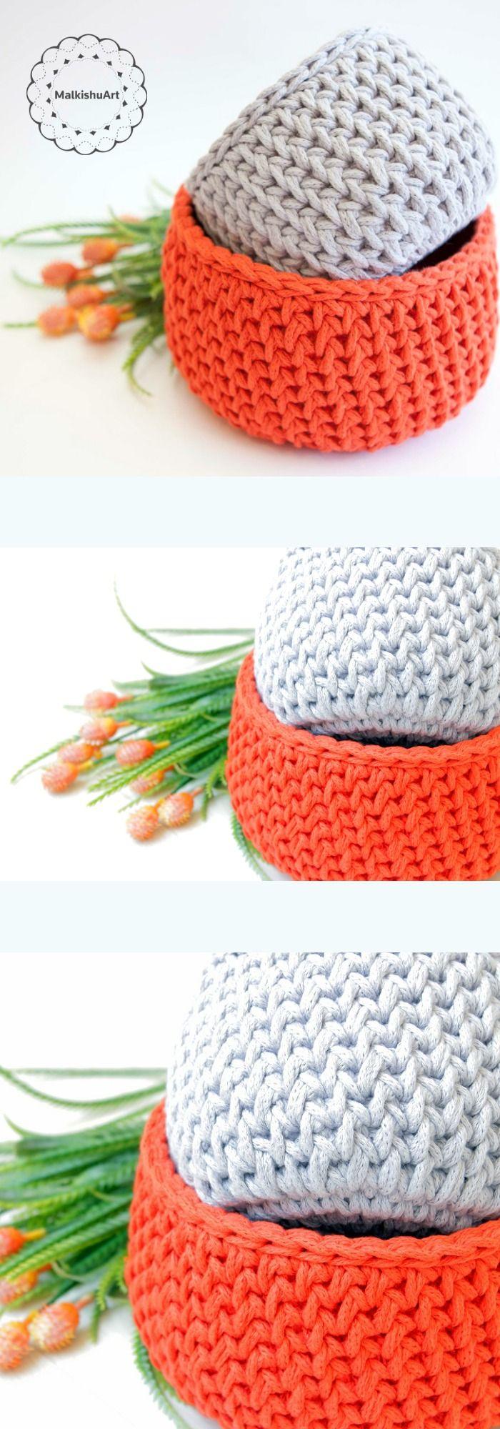 Crochet basket pattern,Crochet pattern, crochet home décor, crochet ...