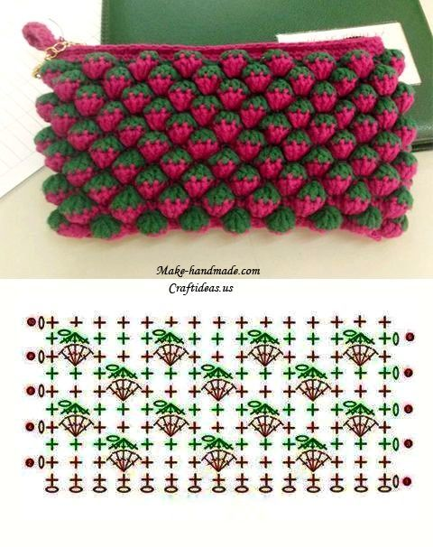 Today we bring you one special crochet stitch: Strawberry Stitch. Has this name because it looks like strawberries. It's simply marvelous! Here you can find an tutorial, step by step, a PDF pattern #shawlcrochetpattern