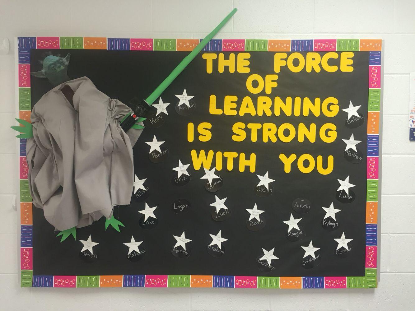 Door decorations for spanish class - Classroom Bulletin Board Star Wars