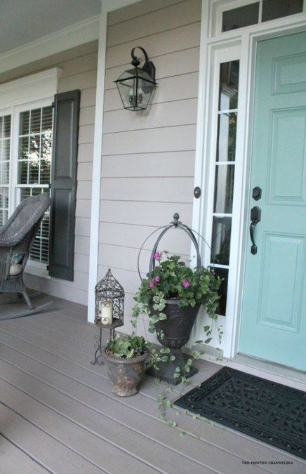 Exterior grey paint colors for house front porches 15+ ideas #greyexteriorhousecolors