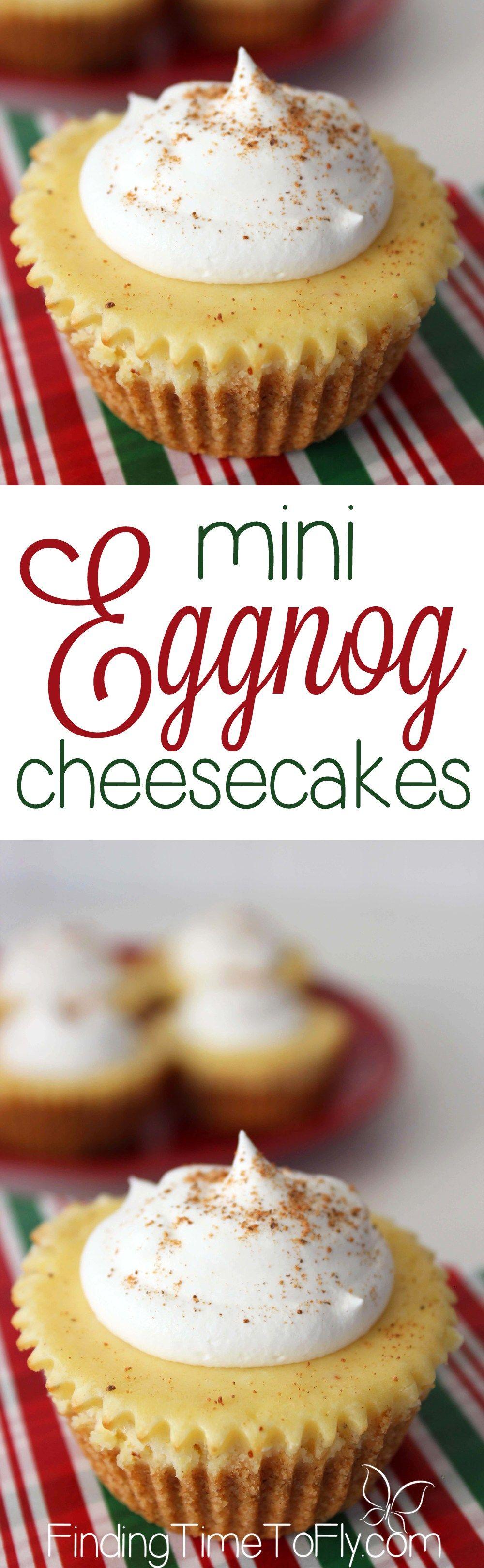 Mini Eggnog Cheesecakes | Recipe | Eggnog cheesecake, Eggs and ...