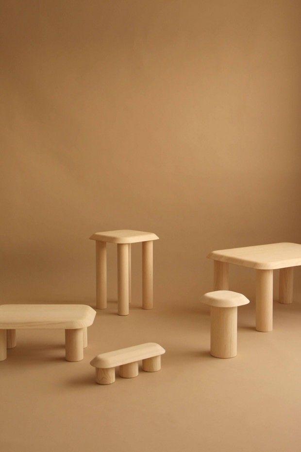 Bigfoot Furniture, Collection De 5 Tables En Bois De Frêne