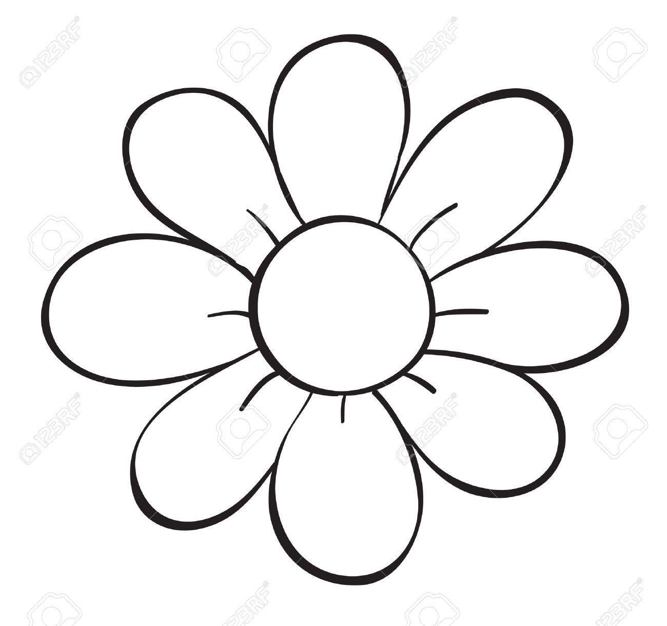 Stock Vector Flower Outline Flower Pattern Drawing Flower Drawing