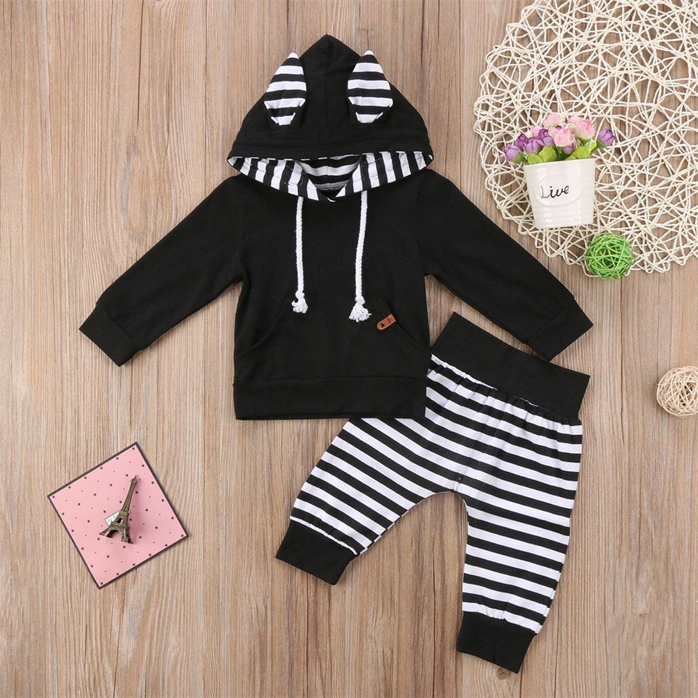 Toddler Kids Baby Girls Clothes T-shirt Top Leopard Pants Outfits Set Tracksuit