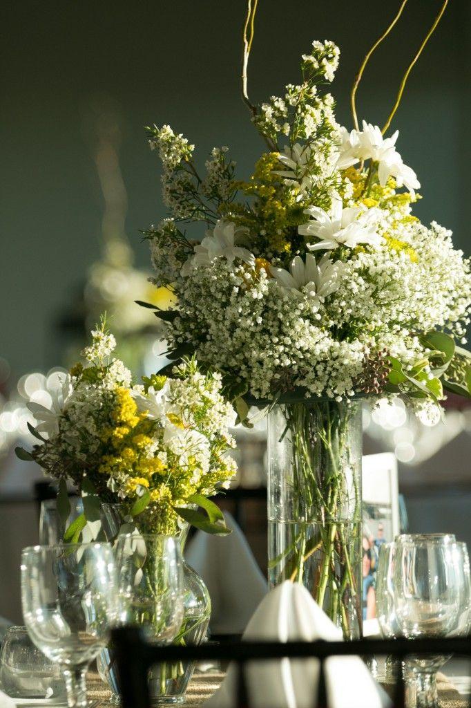 Natural Green vintage wildflower wedding decor centerpieces Floral