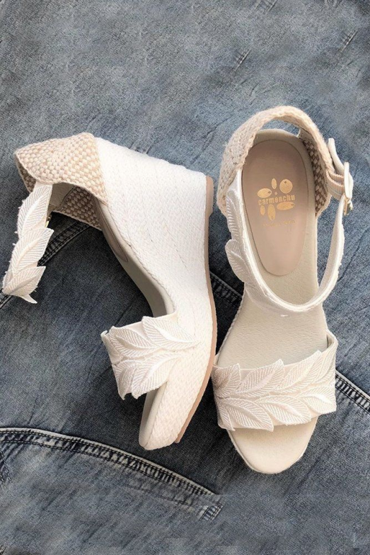 24 Most Wanted Wedding Shoes For Bride & Bridesmaids ?  wedding shoes wedge ivor...