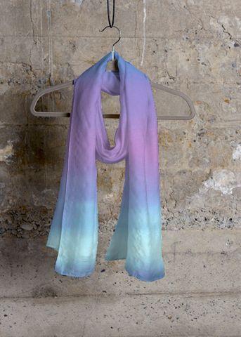 Cashmere Silk Scarf - Purple field by VIDA VIDA reMcaUfOy