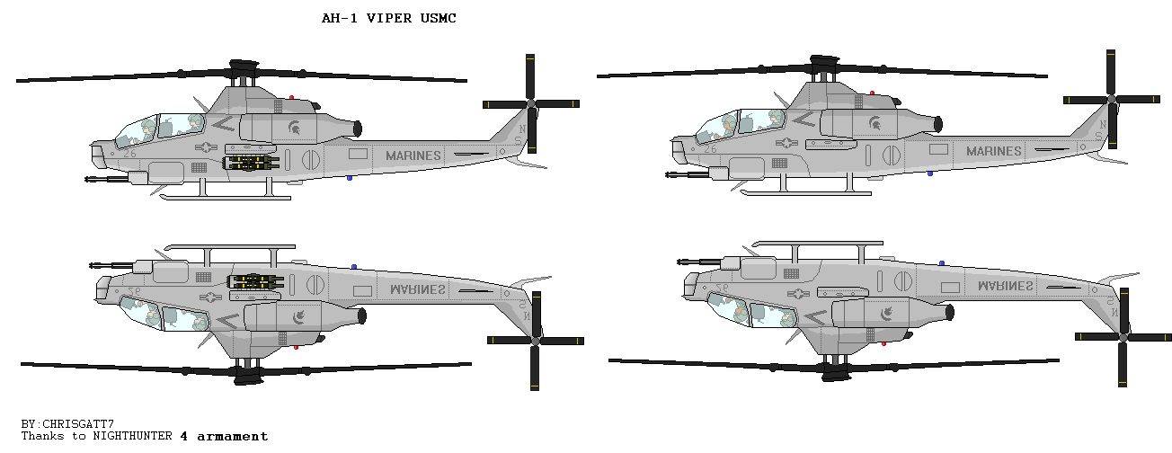 AH-1 Viper Helicopters