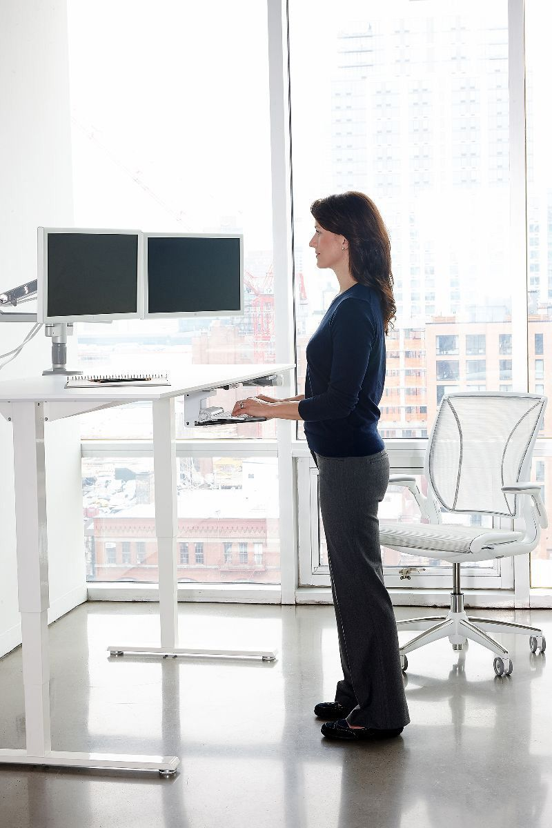 Humanscale Float Sit Stand Desk Home Office Design Sit Stand Desk Office Layout
