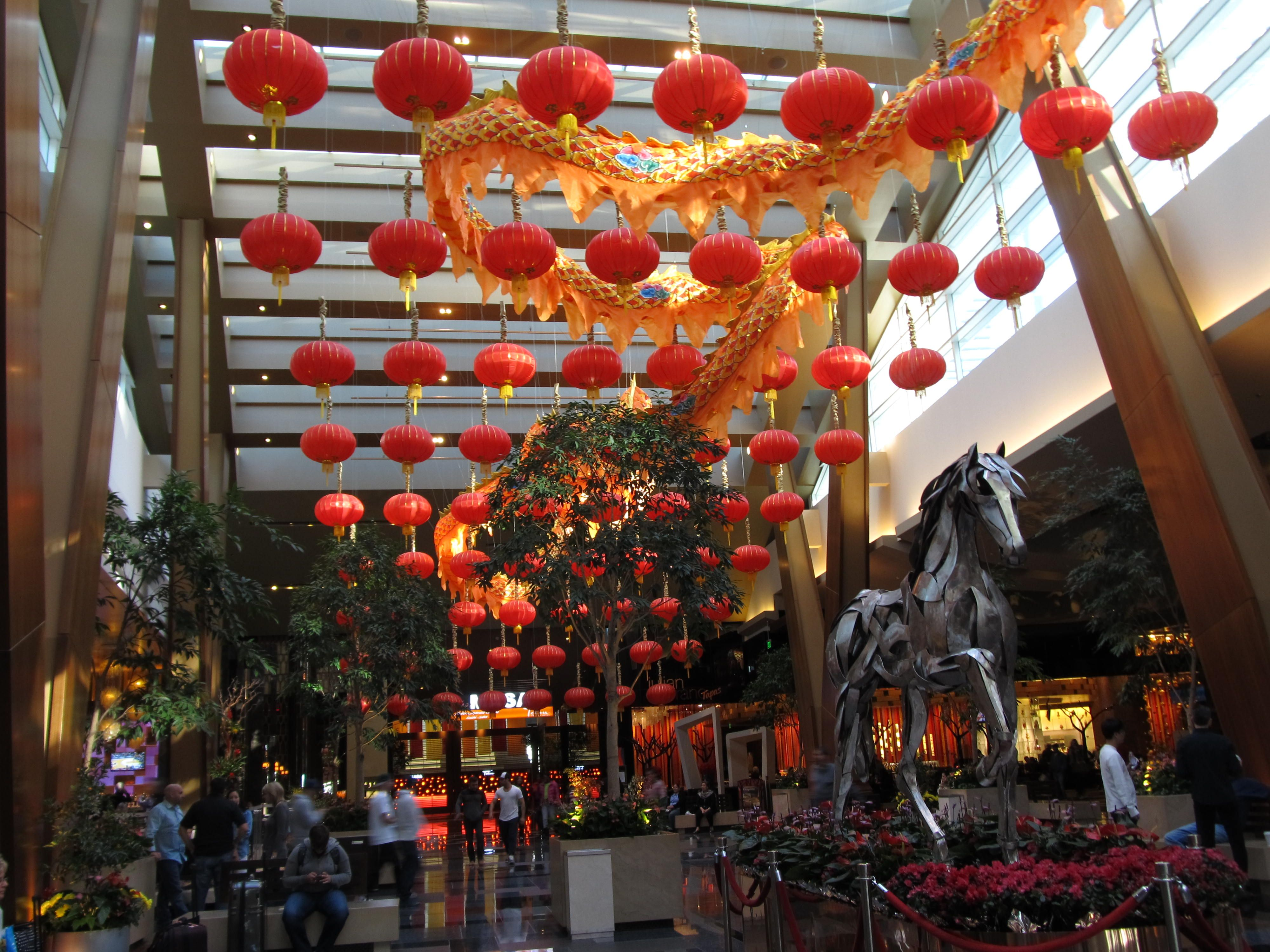 """Decorations celebrating """"Chinese New Year"""" 2014 at the ARIA"""