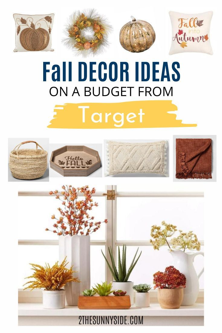 Fall Decor Idea on a budget from Target in 2020 Fall