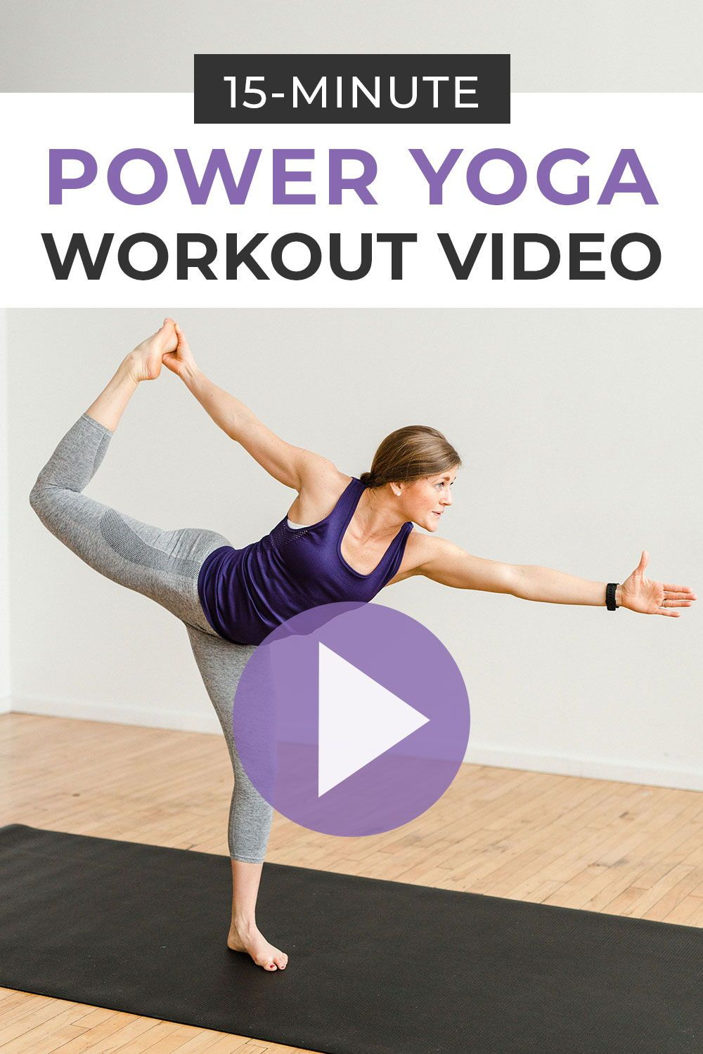 15-Minute Power Yoga At Home (No Equipment) | Nourish Move Love