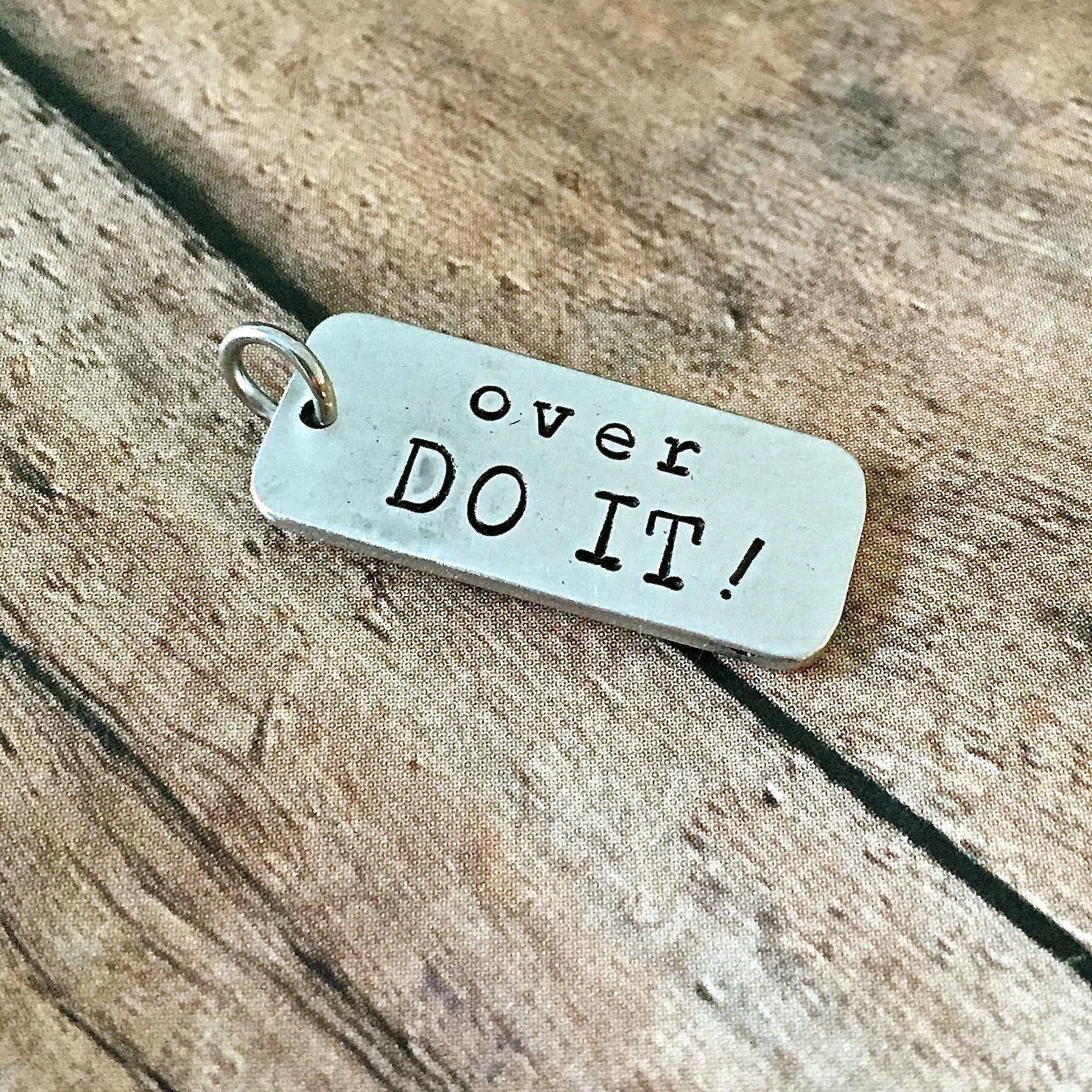 Over DO IT Charm Fitness jewelry, Jewelry inspiration