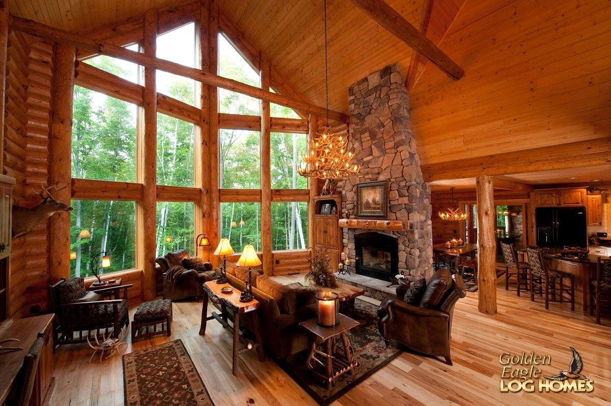 Great room log home lover pinterest golden eagle logs and cabin room dzzzfo