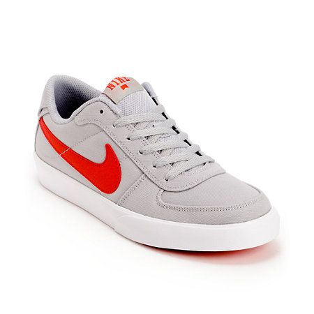 Nike SB Mavrk Low Grey & Hyper Red Skate Shoes | Zumiez