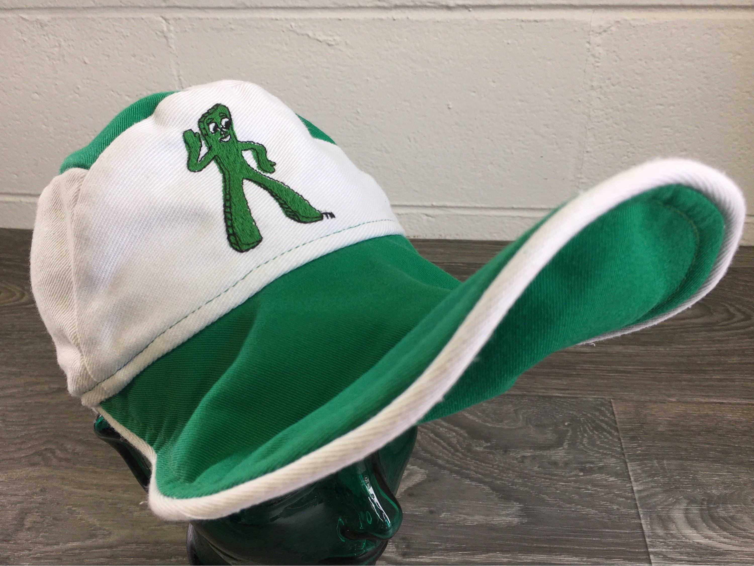 48206c91192 Gumby Hat Vintage 80s USA Made Long Bill Beak Billed Platypus Iconic  Claymation Tv Television Show Rare Fitted Size 7 by sweetVTGtshirt on Etsy