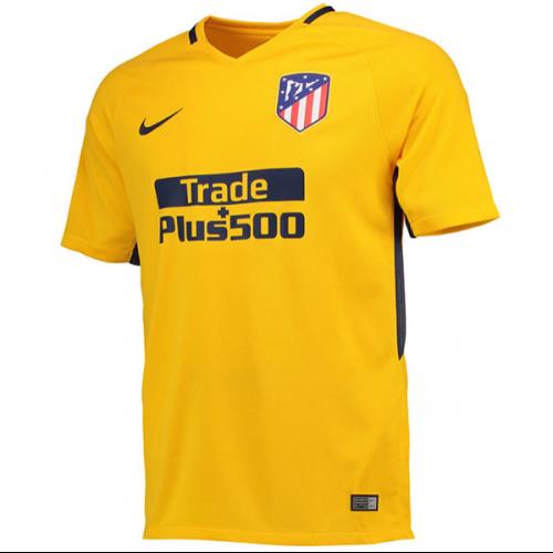 bdc2d95f52a 17-18 Atletico Madrid Away Yellow Soccer Jersey Shirt | La Liga ...