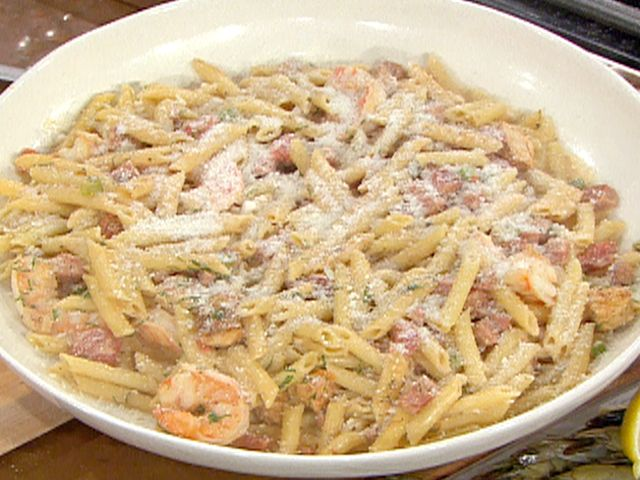 Its pretty hard to mess this up jambalaya pasta with penne jambalaya pasta with penne chicken shrimp and andouille recipe from emeril yum forumfinder Gallery