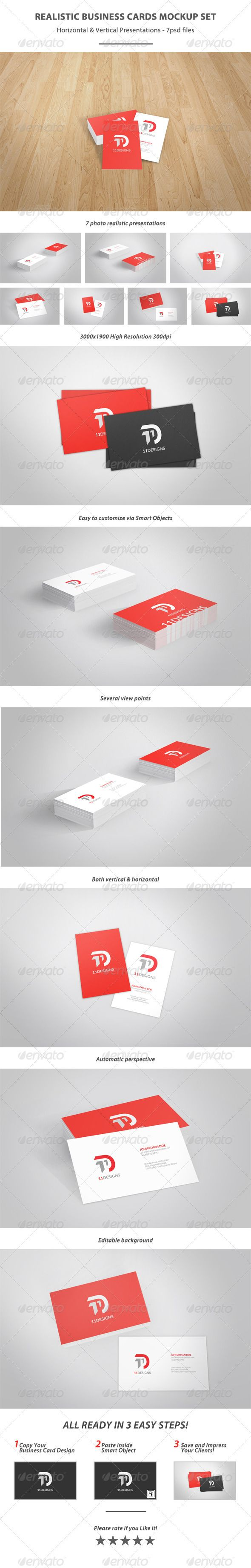 Realistic business card mockup set reheart Choice Image