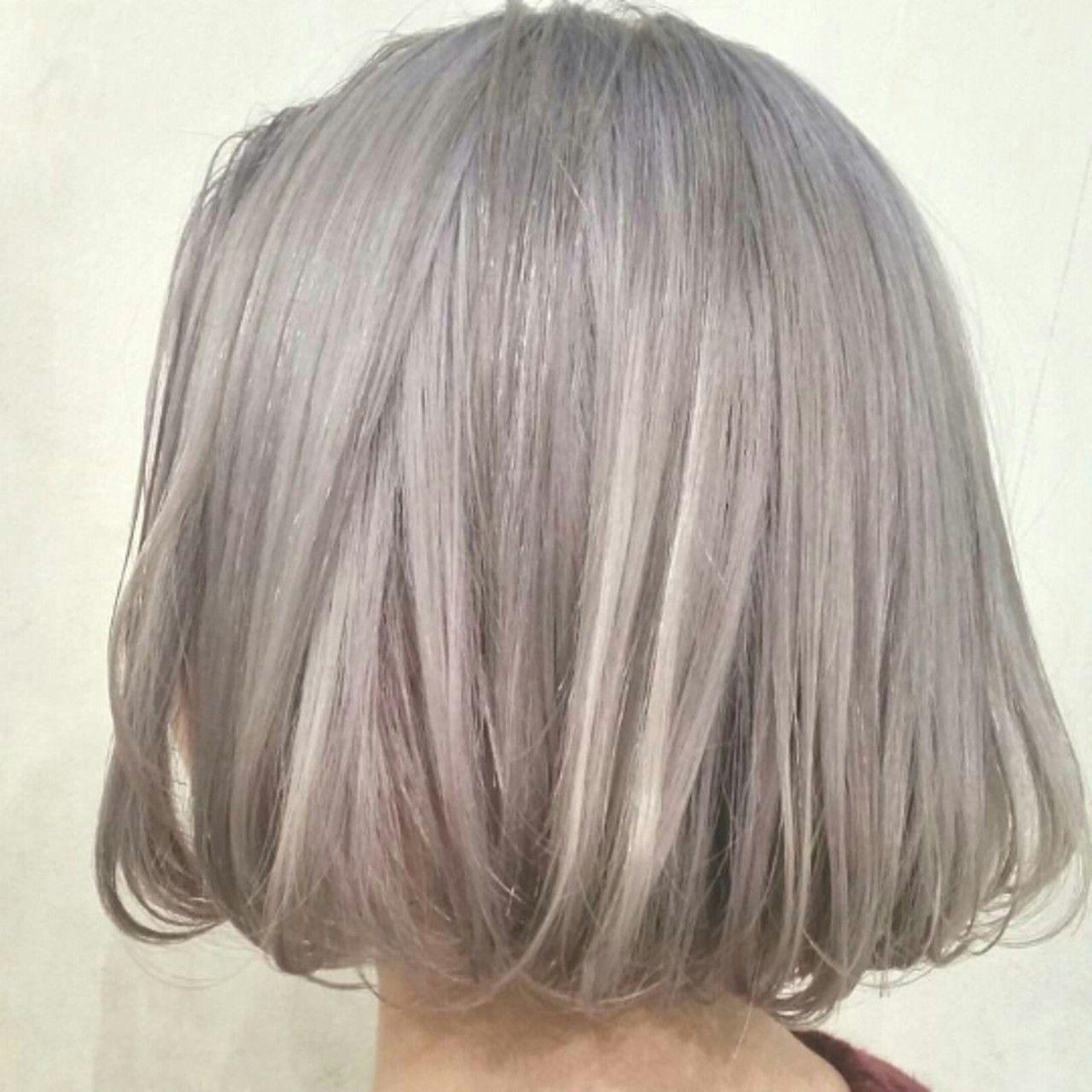 Pearl Gray Lavender 色落ちを白くするために 極薄の青み
