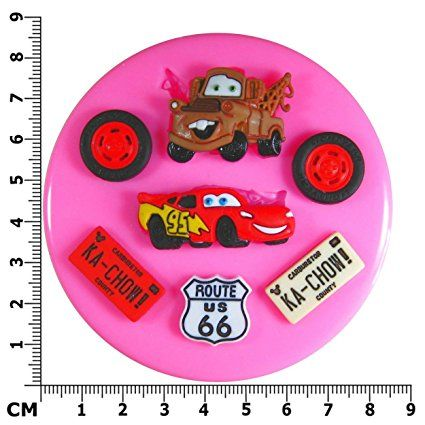 Lightning McQueen Mater Cars Silicone Mould.