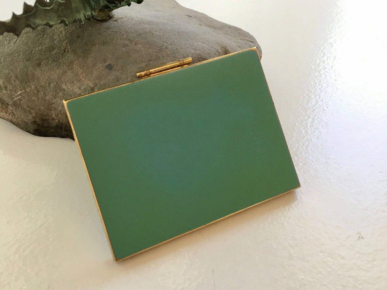 Vintage Aqua Enamel Gold Tone Cigarette Case Card Case | Aqua, Card ...