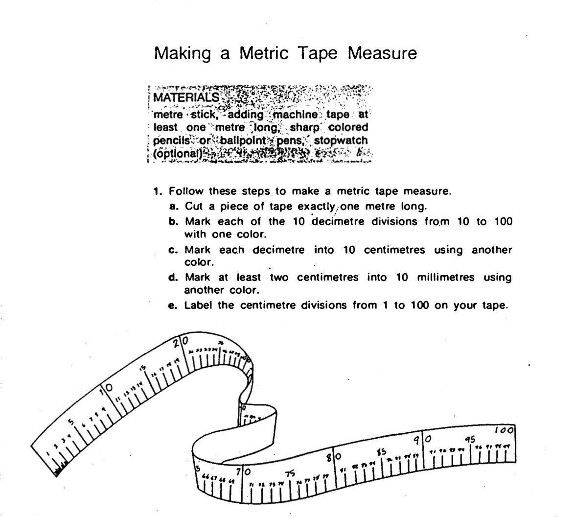 Making A Measuring Tape