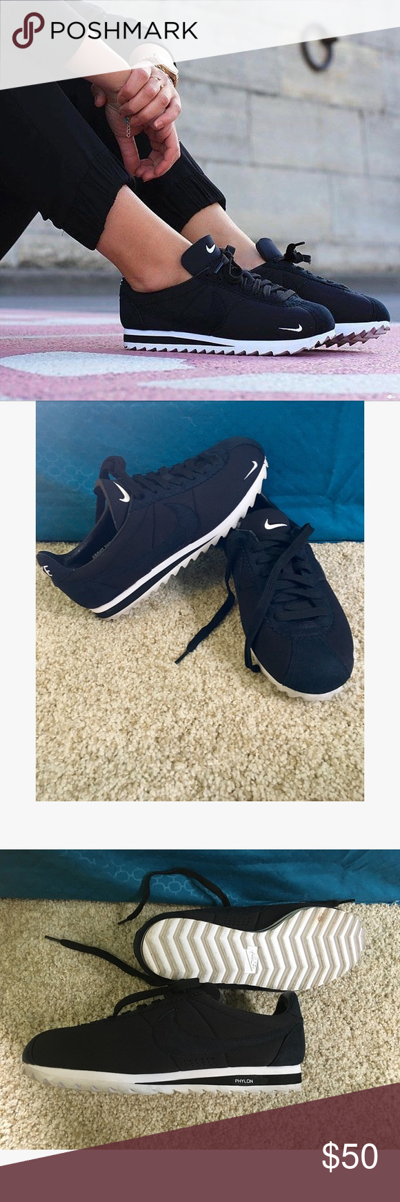 the latest f1faa 2a908 Black Nike phylon Cortez Size 7 in men s . 8.5 in women s. In excellent  conditions literally only wore them one time . Super comfortable   light  weight.