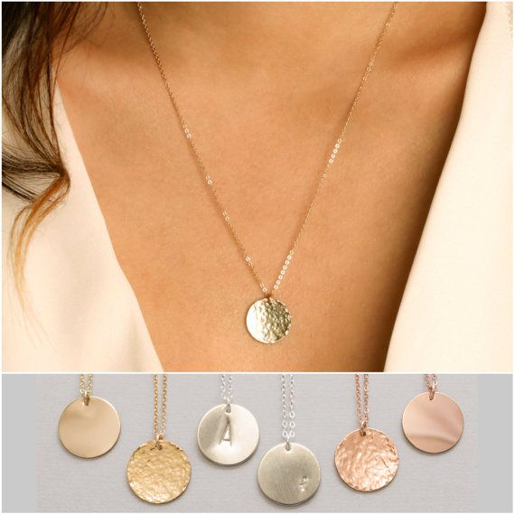 Large disc necklace monogram initial necklace monogram necklace large disc necklace monogram initial necklace monogram necklace personalized circle necklace gold disc pendant graduation gift 16mm aloadofball Image collections
