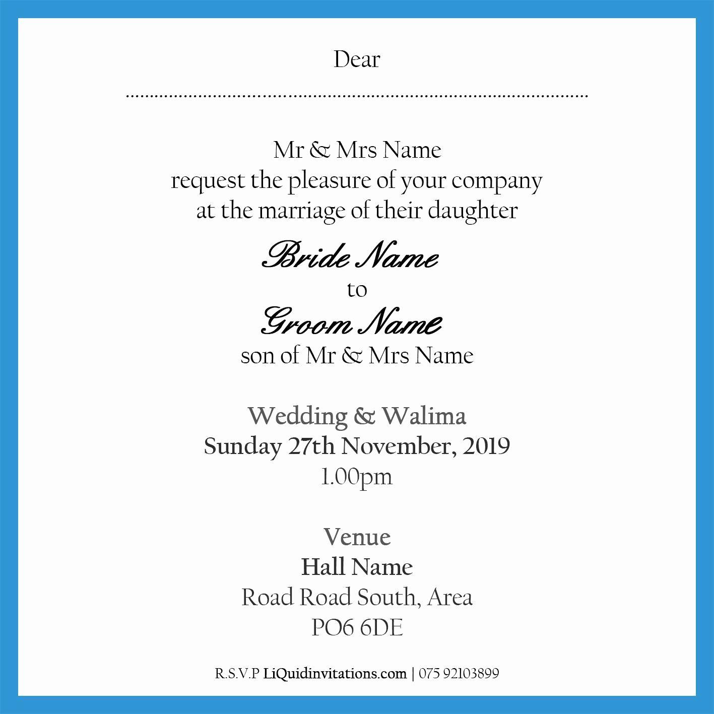 Walima Invitation Cards Wordings Best Of Muslim Wedding Invitation Wordings Muslim Wedding Cards Wedding Invitation Card Wording Muslim Wedding Invitations