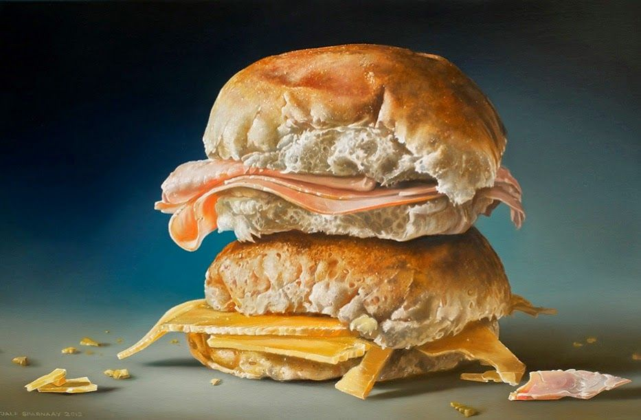 Insane Hyperrealistic Food Paintings Make You Wish Canvas Was Edible -  #art #food #Hyperrealistic #paintings
