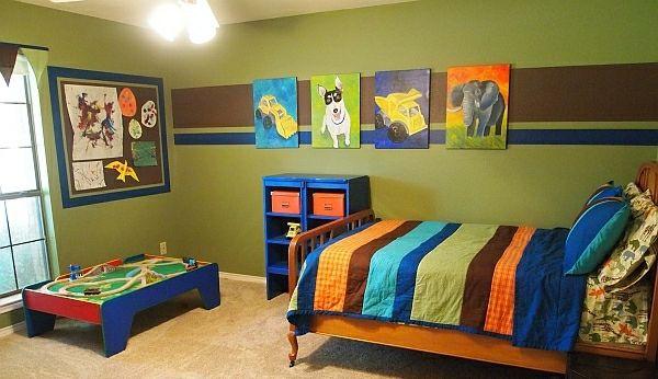 Kinderzimmer Junge Bunt Bett Bild | Baby & Children | Pinterest Bilder Kinderzimmer Junge